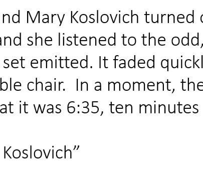 Beginnings 008 – The Devil and Ms Koslovich