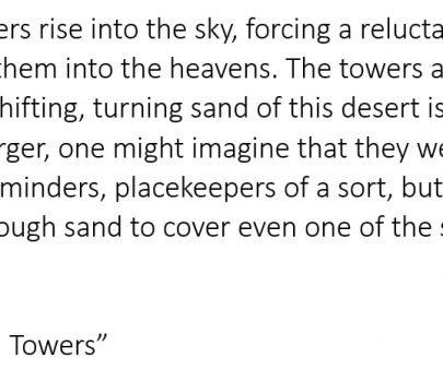 Beginnings 032 – The Dark Still Towers
