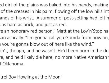 Beginnings 107 – Minstrel Boy Howling at the Moon